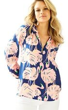 Lilly Pulitzer Elsa top, 100% Silk Blouse, Gimme Some Leg