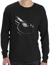 Gift for Guitarist Cool Musician Electric Guitar Printed Long Sleeve T-Shirt