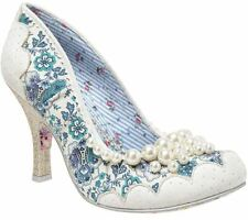 Irregular Choice Pearly Girly White Womens Heels Court Shoes Boots