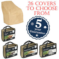 GARDMAN DELUXE BEIGE PATIO FURNITURE COVERS 26 VARIETIES WATERPROOF GARDEN SET