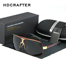 Retro Mens HD Polarized Aviator Driving Sunglasses Brand Designer Eyewear Shades