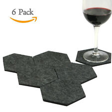 6PCS Lemo handmade Geometric Hexagon Drink Coasters Felt Fabric HD22