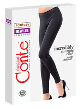Jersey Leggings with Slimming effect 'NEW LUX' Black S M L from Conte