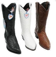 Men's Genuine Wild West Real Ostrich Leather Western Cowboy Boots In 3 Colors