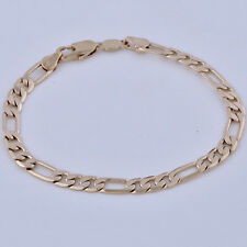 Yellow Gold Filled Cool Mens Jewelry Boys Titanium Hip Hop Punk Figaro Bracelet