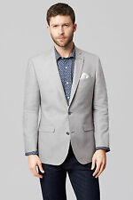 Moss 1851 Mens Suit Jacket Tailored Fit Grey Single Breasted Wedding Prom Dinner