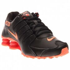 NIKE SHOX NZ BLACK BRIGHT MANGO BRIGHT CRIMSON WOMEN'S SHOES