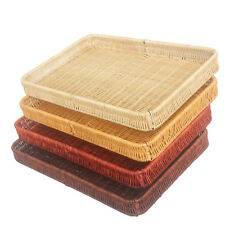 Rectangle Natural Rattan Storage Basket  Gift Hamper For Bread Fruit Handmade