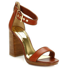 Ted Baker Womens Tan Lorno High Heel Sandals Ankle Strap Heels Summer Ladies
