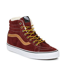 Vans Mens Womens Unisex Trainers Lace Up Suede Sk8 Hi Tops Red Reissue Andorra