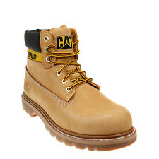 Caterpillar Mens Colorado Unisex Honey Brown Leather Ankle Boots Lace Up Casual