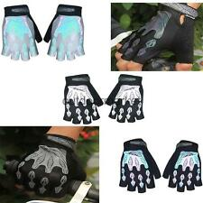 Motorcycle Bike Bicycle Riding Cycling Gel Palm Reflective Half Finger Gloves
