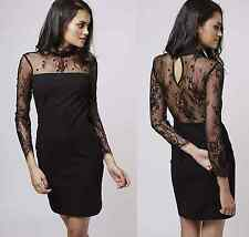 Topshop Beaded Lace Tailored Bodycon Dress UK 6 8 10 / 34 36 38 US 2 4 BNWT