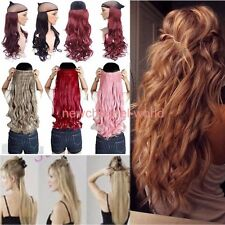 New Clip in on Hair Extensions Real 100% Natural Straight Wavy Hair Extension sy