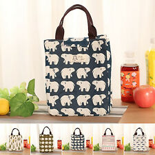 Portable Lunch Box Carry Tote Storage Bag Travel Case Outdoor Picnic Handbag New