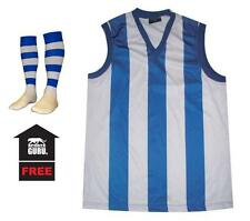 New Adults Nth Melbourne Football Jumper Guernsey + FREE Kangaroos Footy Socks