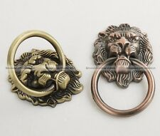 6pcs Continental Vintage Lions Head Chest Drawers Bronze Pull Door Knobs Handles