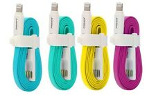 Pisen Colored Charging Noodle Flat Cable for Apple Lightning iPhone iPad 0.8m