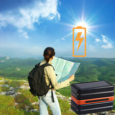 Portable Solar Power Bank 8000mAh External Charger Battery For iPhone 6s Samsung
