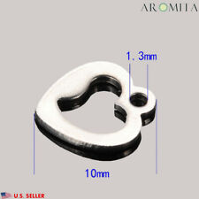 Wholesale Stainless Steel Open Heart Charm Pendant Jewelry Supplies 10x9mm