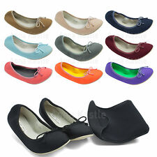 AnnaKastle New Womens Neoprene Comfort Ballet Flat with Shoes Bag US 5 6 7