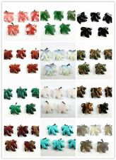 5PCS Wholesale mixed color mixed material carved maple leaves pendant bead