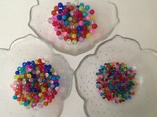 Mixed colours round glass crackle beads 200 x 4mm or 6mm/100 x 8mm/45 x 10mm