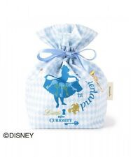 DISNEY Alice Drawstring Pouch Cosmetic Bag Purse Makeup Case from Japan K1329