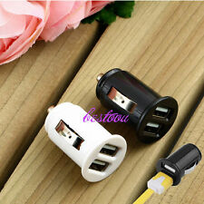 Universal Twin Dual Port 2 USB 12V In Car Socket Lighter Charger Adapter GK