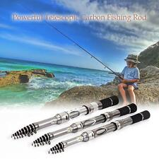 Retractable Carbon Fiber Fishing Rod Fishing Pole Travel Fishing Rod Kit G7V4