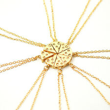 Fashion New Cheese Slice 8Pcs Charming Jewelry Pendant Chain Friendship Necklace