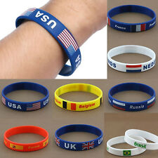 Rio 2016 Rubber Olympics Brazil logo Silicone  Bracelet Country Flag Wristband