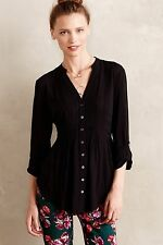 NIP Anthropologie Composed Pintuck Buttondown by Maeve Sz 6 Petite