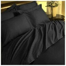 Home  Bedding Sets-Duvet/Fitted/Flat 1000TC Egyptian-Cotton Black Striped
