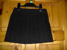 GIRLS BLACK PLEATED SCHOOL SKIRT  - AGES 3 - 12 YEARS