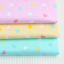 Cotton Fabric Pre-Cut Cotton Quilt cloth Fabric for Sewing Heart-shaped 3 Color