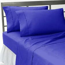 Luxury Collection 1pc Fitted Sheet 1000TC Egyptian Cotton Egyptian Blue All Size