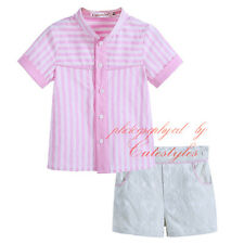 Baby Boys Outfit 2Pcs Toddler Infant Short Sleeve Striped Shirt Top + Shorts Set