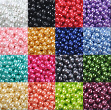 Wholesale Glass Pearl Round Spacer Loose Beads 4/6/8/10mm Jewellery Making Craft