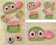 Crochet TMNT Inspired PINK GIRLS Ninja Turtle baby Outfit/Costume up to 12 m