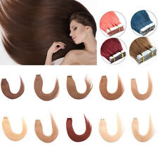 Women Straight PU Tape In Hair Extensions 100% Remy Human Hair Piece 20pcs/Lot