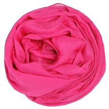 Women Chiffon Scarf Pleated Wrinkle Shawl Long Summer Sunproof Wrap Kerchief New