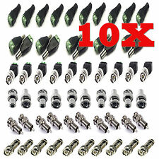 NEW 10X CAT5 TO COAXIAL CAMERA CCTV TV POWER VIDEO BALUN BNC CABLE CONNECTORS