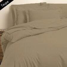 SUPREME (TAUPE SOLID) 1000TC COMPLETE BEDDING COLLECTION 100% COTTON ALL SIZE