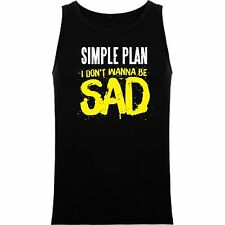 T-SHIRT WITHOUT SLEEVES SIMPLE PLAN POP PUNK ROCK BAND TANK TOP SIL Msp001