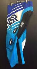 ANSWER RACING SYNCRON MX * BMX RIDING PANTS - BLUE/WHITE - ADULT 30 - GENUINE