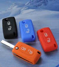 Silicone Car key cover suitable for Peugeot 206 207 208 307 308 408 508 2008