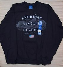 PURITAN VENTAGE CLASSIC MENS BLACK CHOPPER COTTON/POLY CREW MED to 3XL LIST $15