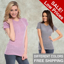 Women Tri Blend Tee Royal Apparel American Old School Gym Alternative T-Shirt