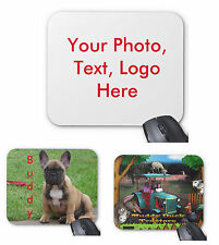 Personalised Custom Mousemat Mouse Pad 3 or 5mm Rubber - Your Photo, text, logo